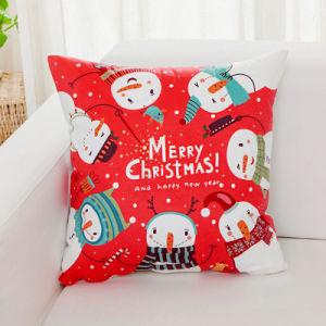 Housse de coussin de linge de coton de Noël