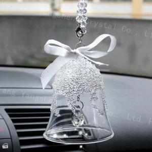 Pendenti di cristallo dell'albero di Natale della radura di figura di Bell di natale per le decorazioni dell'albero di Natale