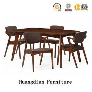 Diseño moderno restaurante de madera Muebles de Comedor juego de mesa y silla (HD712)