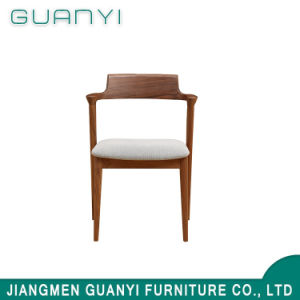 На заводе горячая продажа ткани цельной древесины обеденный стул