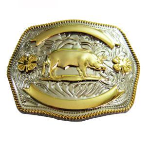 Kundenspezifische Form-westliche Metallgürtelschnalle als Andenken-Geschenke