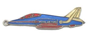 Zoll, der weichen Decklack-Royal Air Force-Metalmessingschlüsselring für Dekoration (017, stempelt)