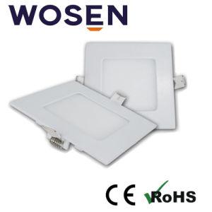6W LED cuadrada de la luz de panel de LED con bis aprobado
