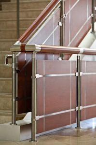le verre intrieur rampe descalier bois main courante de la balustrade en acier inoxydable