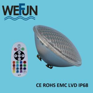AC12V PAR56 scaldano l'indicatore luminoso subacqueo bianco della piscina di IP68 LED