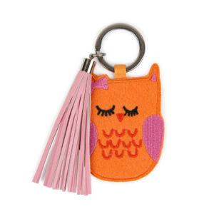 A medida de alta calidad logotipo impreso Mini Llavero Llavero de animales de dibujos animados en 3D de poliéster de equipaje de tejido de lana hechos a mano Nonwoven etiqueta clave Llavero fieltro bordado