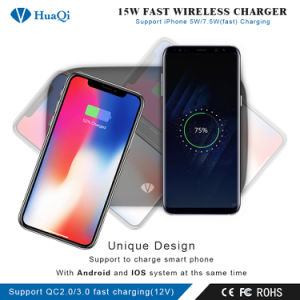 15W Fast Wireless Charger Support 2 Mobile Phones (IOSおよびAndroid) Fast Charging