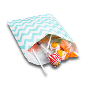着色されたキャンデーのしまのある甘いペーパーギフト党袋(YH-PGB142)