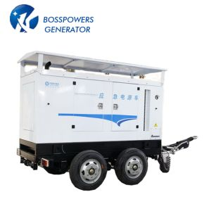 5-1500kw 4つの車輪のトレーラーが付いている移動式ディーゼル発電機セット