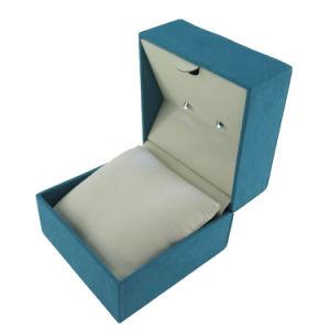 Reloj de plástico azul de terciopelo de microfibra Joyería Caja de regalo