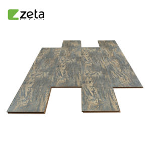 V-Groove, la textura de madera encerada relieve superficie resistente al agua del suelo laminado AC3