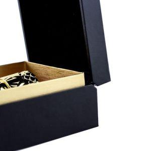 우아한 까만 향수 선물 포장 상자 판지 상자 선물 상자