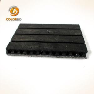 Imperméable et Fire-Proof acoustique mur noir couvrant les panneaux MDF