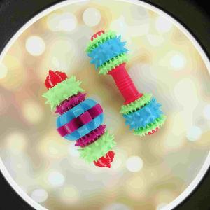 Le Pet d'alimentation, la dent de pignon de nettoyage Nettoyage des dents molaire en plastique PET Chew Dog Toy