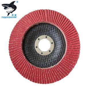 5-дюймовый 60мкм красного керамического абразива заслонка колесный диск для шлифовки