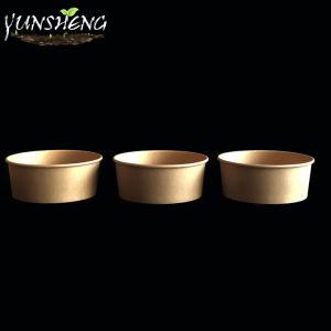12oz 16oz Natural Redonda descartáveis retirar os contentores/salada bowl/tigela de sopa com tampas com isolamento térmico por grosso