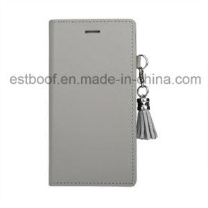 Kippen-Leder mit Metalltroddel-Telefon-Kasten