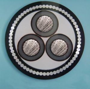 Câble cuivre blindé 33kv. Isolation en polyéthylène réticulé. Fil d'acier ou acier, de bande