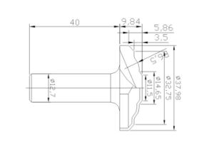 Trabalho de madeira de qualidade Hih Peste Mergulhar Diamond PCD Bits de roteador do cortador (A05005)