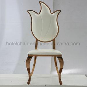 ステンレス鋼のクロム足を搭載する現代Stactable PUの白い食事の椅子