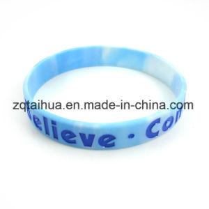 Wristband/braccialetto su ordinazione del silicone con colore riempito