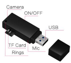 1080P Mini DVR U de la cámara de la unidad de disco U cámara es compatible con Flash de 64GB cámara con lentes Muy oculto