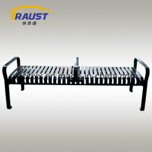 外のHightの品質の鋼鉄まっすぐな金属の屋外のSlattedベンチの背部