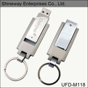 Металлические поворотного флэш-накопитель USB с королем кольцо (M118)