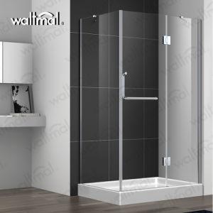 32 X 60 Chuveiro Lux Archon Níquel escovado alto sem caixilho articulada chuveiro porta com vidro transparente