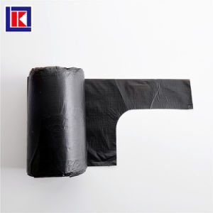 LDPE HDPE 주문 반공식적인 손잡이 쓰레기 봉지 롤