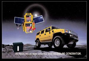 Utilisation du système solaire jaune Portable pour batterie de voiture