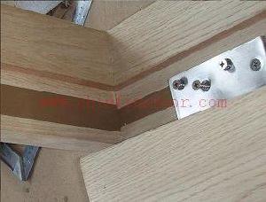 Porte coupe-feu de bois avec certificat BS (CF-F018)