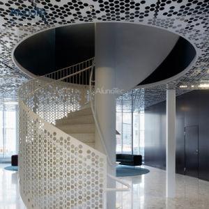 Revêtement en poudre dalle de plafond en tôle en aluminium