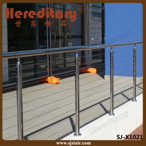 304# de Balustrade van het Traliewerk van de Kabel van het Roestvrij staal SUS voor Balkon/Dek (sj-H1631)