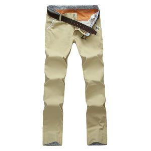 Pantaloni lunghi di modo degli uomini della saia adatta casuale del cotone