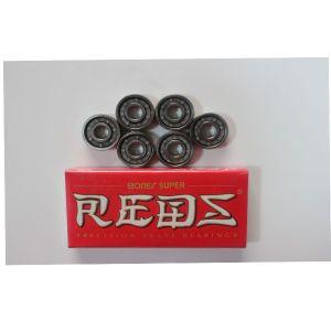 Los huesos rojos Super 608RS, una sola hilera de bola de ranura profunda serie, blindado de caucho negro, blanco de la jaula de nylon