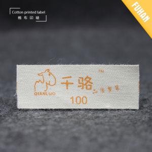 La impresión de algodón personalizadas de algodón, etiqueta etiqueta
