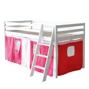 Ensembles de chambre à coucher Mobilier Matériel de pin de couleur blanche mobilier moderne en bois de lit