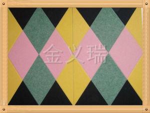 Mur de tuile de plafond et panneau de plafond décoratifs acoustiques (JAP-003)