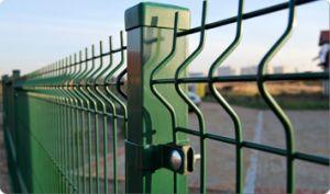 Segurança com revestimento de PVC O zoneamento de rede de arame soldado