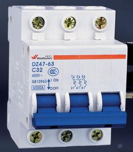 El aire de caja moldeada en miniatura, Capacidad de ruptura de CA 6ka 10ka vacío interruptor eléctrico el Disyuntor (DZ47-63) MCB