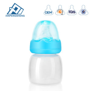 2oz pp. Baby-Milchflasche-Baby-führende Flasche mit der flüssigen Silikon-Brustwarze 2 Unze-Baby-Flaschen-weicher Silikon-Nippel-Minimilchflasche