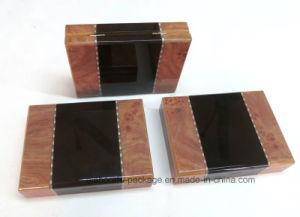 Роскошные деревянные лоснистые коробки кольца пакета собрания