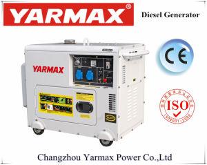 Yarmaxの経済的な無声ディーゼル発電機空気によって冷却されるGenset Ym9700t 5kVA