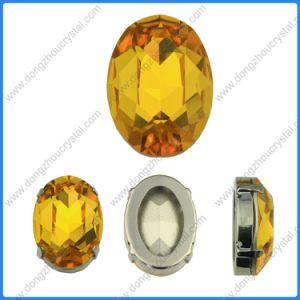 Bergkristal 3002 10X14 naait op Foiled Ovale Buitensporige Steen van het Kristal