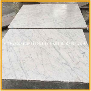 De natuurlijke Tegels van de Muur en van de Vloer van de Steen van Italië Bianco Carrara Witte Marmeren