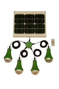 容易なインストール3W再充電可能なLEDホーム太陽照明キット