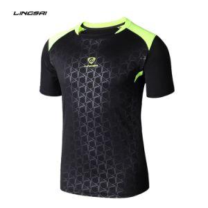 중국 도매 남자의 의류 체조 스포츠 착용 단단히 적합하던 남자의 빠른 건조한 t-셔츠 100%년 폴리에스테 주문 인쇄