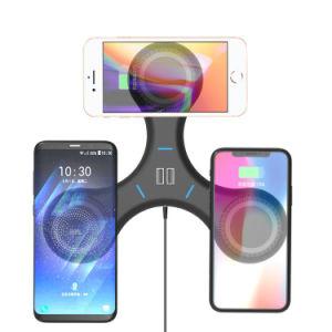 Nuevo teléfono móvil inalámbrica Qi Cargador de soporte de la almohadilla de carga inalámbrica para iPhone y Samsung