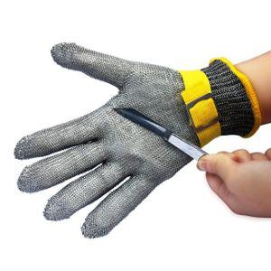 Guantes resistentes al corte de Nueva prueba de corte de seguridad resistentes a la puñalada de malla metálica de acero inoxidable de grado alimentario Guante Carnicero Corte guantes a prueba de ESG10497